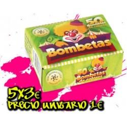 5 Cajas  Mini-Bombetas