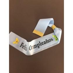 Banda Feliz Cumpleaños Personalizada
