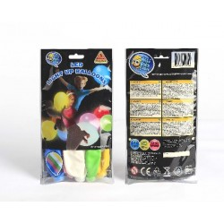 Globo Latex Color con led Pack 1